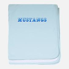 Mustangs-Max blue 400 baby blanket