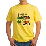 Cheerleaders are Athletes Yellow T-Shirt