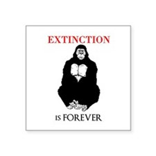 Gorilla Extinction Sticker