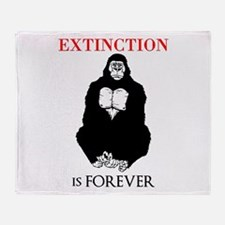 Gorilla Extinction Throw Blanket