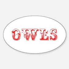 Owls-Max red 400 Decal