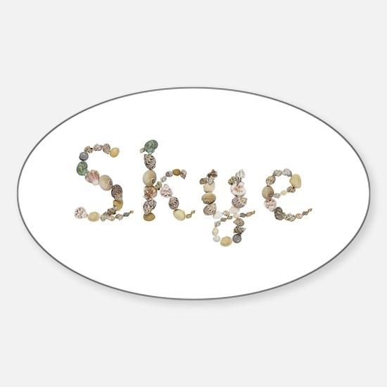 Skye Seashells Oval Decal