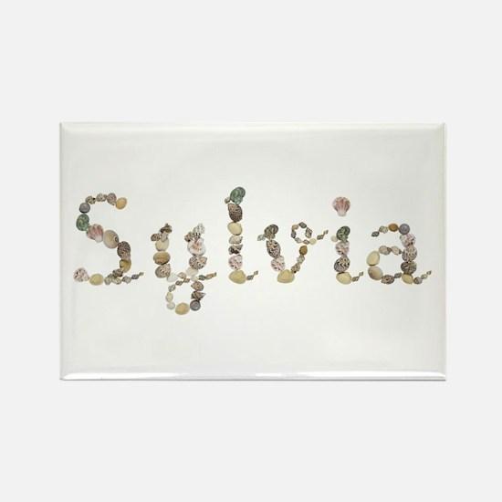 Sylvia Seashells Rectangle Magnet