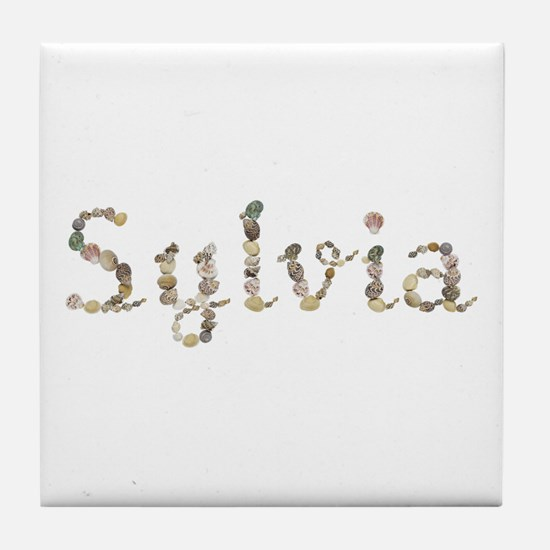 Sylvia Seashells Tile Coaster