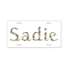 Sadie Seashells Aluminum License Plate
