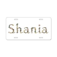 Shania Seashells Aluminum License Plate