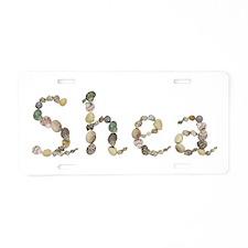 Shea Seashells Aluminum License Plate