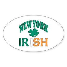 New York irish Oval Bumper Stickers