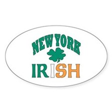 New York irish Oval Decal