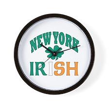 New York irish Wall Clock