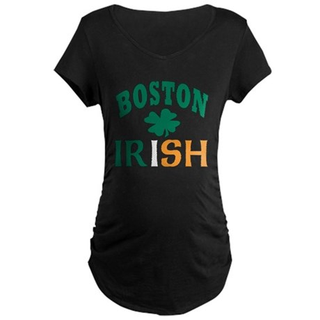 Boston irish Maternity Dark T-Shirt