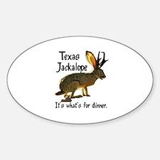 Texas Jackalope Oval Decal