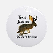 Texas Jackalope Ornament (Round)