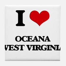 I love Oceana West Virginia Tile Coaster