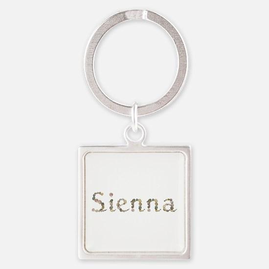 Sienna Seashells Square Keychain