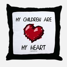 Cute Lots of kids Throw Pillow