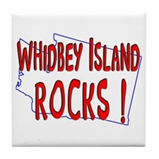 Whidbey Island Rocks ! Tile Coaster