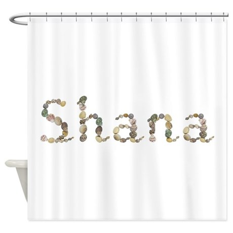 Shana Seashells Shower Curtain By Namestuff Shells Sz
