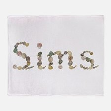 Sims Seashells Throw Blanket