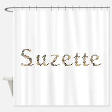 Suzette Seashells Shower Curtain