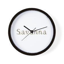 Savanna Seashells Wall Clock