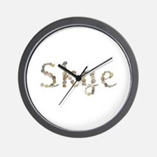 Skye Seashells Wall Clock