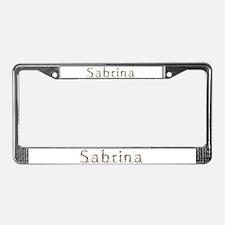 Sabrina Seashells License Plate Frame