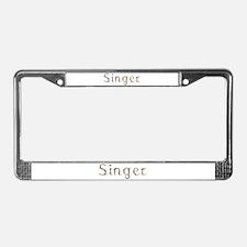 Singer Seashells License Plate Frame