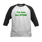 Late for OVBS Kids Baseball Jersey