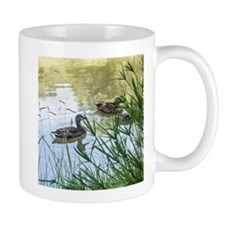Ducks On a Reflection Pond Mugs