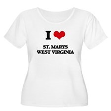 I love St. Marys West Virginia Plus Size T-Shirt