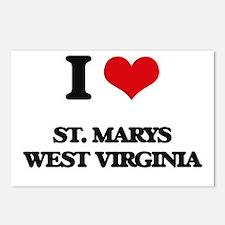 I love St. Marys West Vir Postcards (Package of 8)