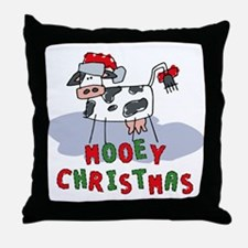 Mooey Christmas Throw Pillow