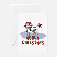 Mooey Christmas Greeting Card