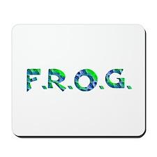 Aqua FROG Scales Mousepad