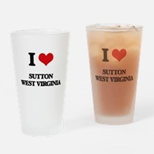I love Sutton West Virginia Drinking Glass
