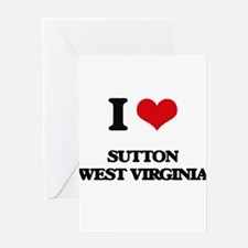 I love Sutton West Virginia Greeting Cards