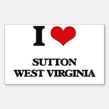 I love Sutton West Virginia Decal
