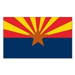Arizona Flag Sticker (Rectangle)