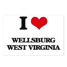 I love Wellsburg West Vir Postcards (Package of 8)