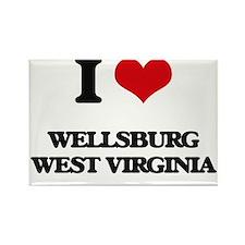 I love Wellsburg West Virginia Magnets