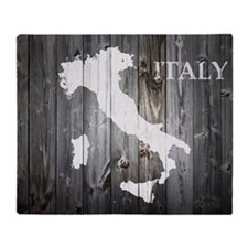 Italy Map Throw Blanket