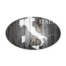 Italy Map Oval Car Magnet