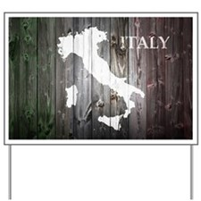 Italy Map Yard Sign
