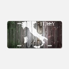 Italy Map Aluminum License Plate