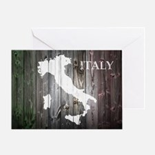 Italy Map Greeting Card