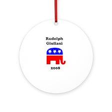 Rudolph Giuliani Ornament (Round)