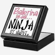Ballerina By Day Ninja By Night Keepsake Box