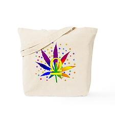 Rainbow Marijuana Libra Tote Bag