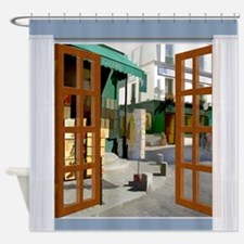 Cute Picture window Shower Curtain